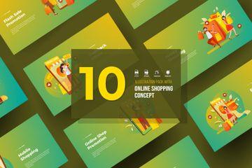 Online Shopping Illustration Pack