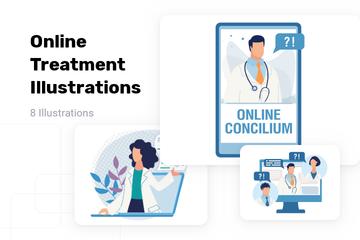 Online Treatment Illustration Pack