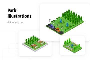 Park Illustration Pack