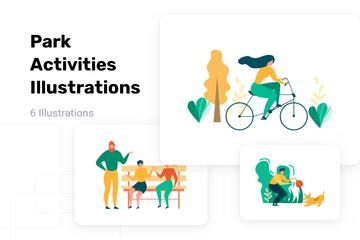 Park Activities Illustration Pack