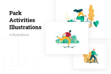 Park Activities Illustration Pack