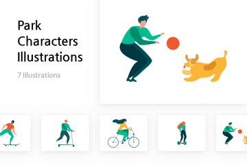 Park Characters Illustration Pack