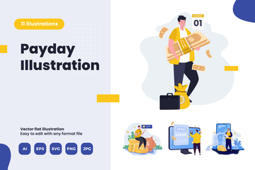 Payday Illustration Pack