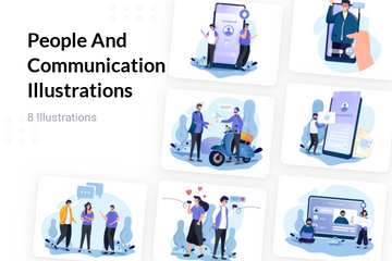 People And Communication Illustration Pack