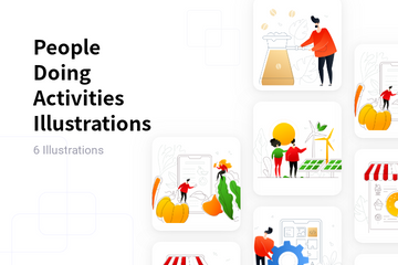 People Doing Activities Illustration Pack