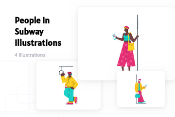 People In Subway Illustration Pack