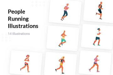 People Running Illustration Pack