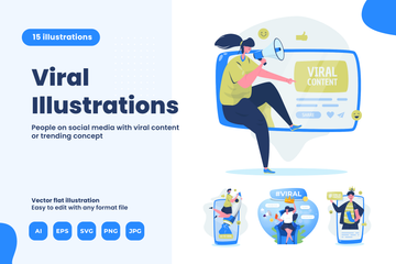 People With Viral Concept Illustration Pack