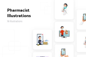 Pharmacist Illustration Pack