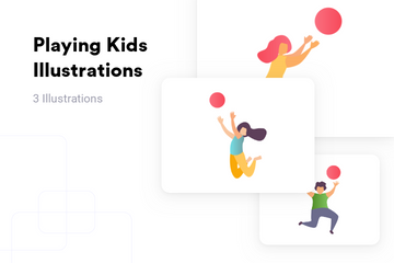 Playing Kids Illustration Pack