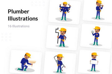 Plumber Illustration Pack
