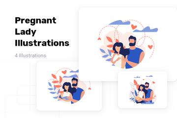Pregnant Lady Illustration Pack