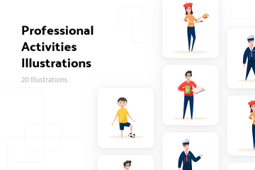 Professional Activities Illustration Pack