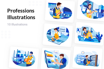 Professions Illustration Pack