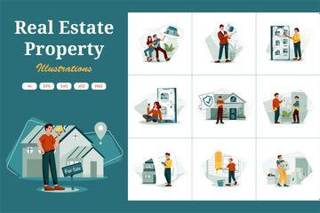 Real Estate Property Illustration Pack