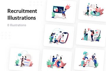 Recruitment Illustration Pack
