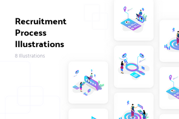 Recruitment Process Illustration Pack