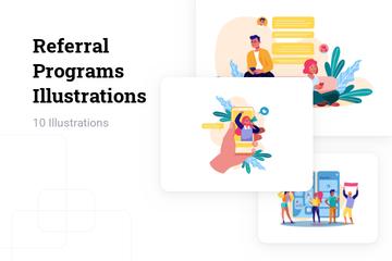 Referral Programs Illustration Pack