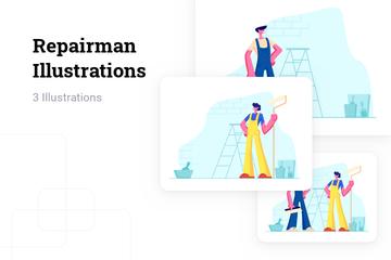 Repairman Illustration Pack