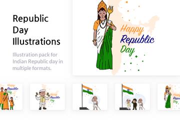Republic Day Illustration Pack