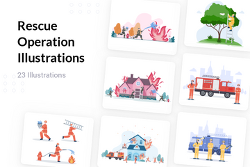 Rescue Operation Illustration Pack