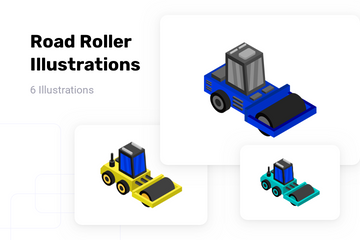 Road Roller Illustration Pack