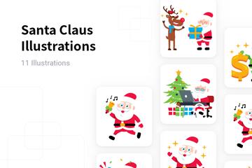 Santa Claus Illustration Pack