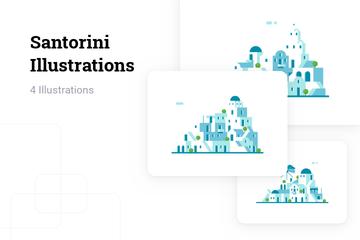 Santorini Illustration Pack