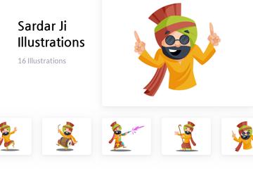 Sardar Ji Illustration Pack