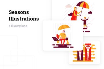 Seasons Illustration Pack