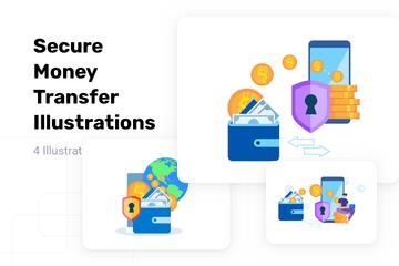 Secure Money Transfer Illustration Pack