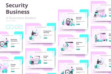 Security Business Illustration Pack