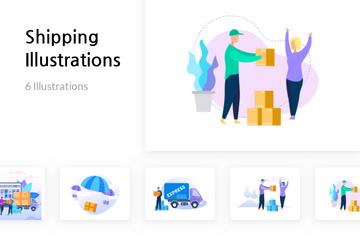 Shipping Illustration Pack
