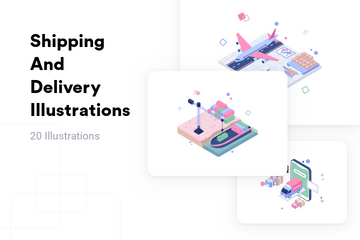 Shipping And Delivery Illustration Pack