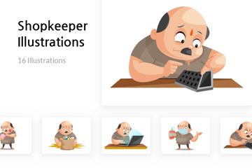 Shopkeeper Illustration Pack