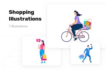 Shopping Illustration Pack