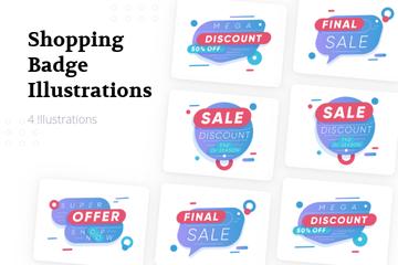 Shopping Badge Illustration Pack