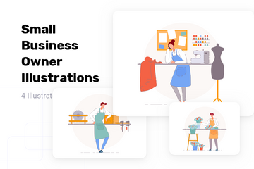 Small Business Owner Illustration Pack