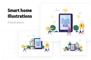 Smart Home Illustration Pack