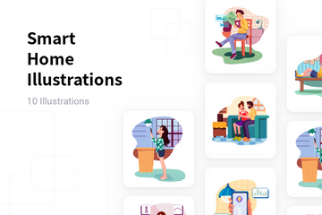 Smart Home Illustration Pack