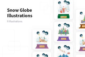 Snow Globe Illustration Pack