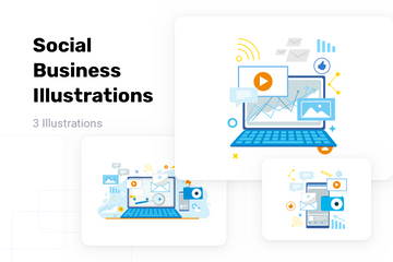 Social Business Illustration Pack