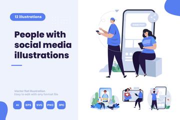 Social Network Illustration Pack