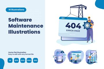 Software Maintenance Illustration Pack