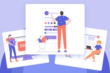 Software Testing Illustration Pack
