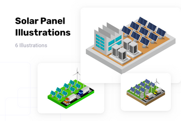 Solar Panel Illustration Pack