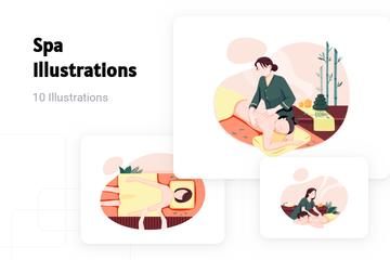 Spa Illustration Pack