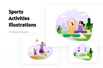 Sports Activities Illustration Pack