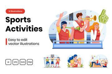 Sports Activities Illustration Pack
