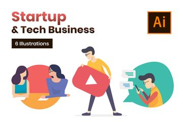 Startup And Innovation Illustrations Illustration Pack